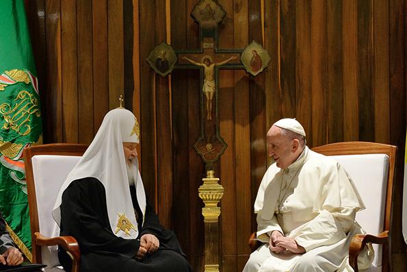 Если состоится новая встреча Святейшего Патриарха Кирилла с Папой Римским, то о ней объявят за неделю