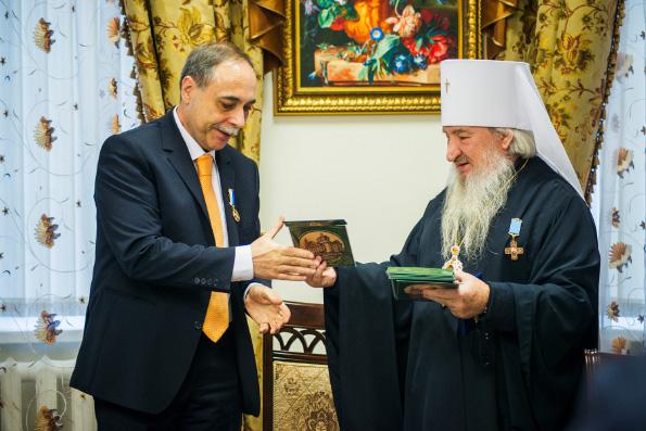 Митрополит Феофан встретился с Послом Болгарии в России Бойко Коцевым