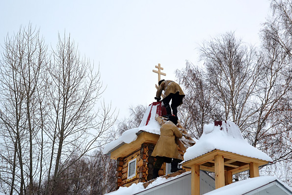 В селе Шильнебаш построили деревянный храм-часовню