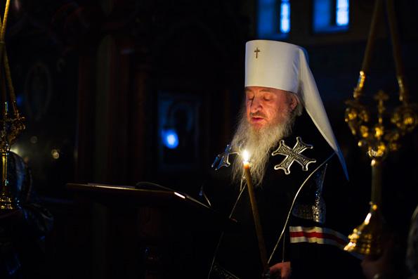 В понедельник первой седмицы Великого поста митрополит Феофан совершил чтение канона прп. Андрея Критского в Зилантовом монастыре