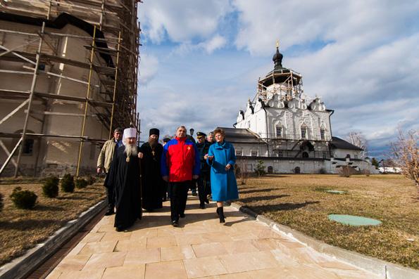 В Свияжском монастыре приветствовали главу МЧС России