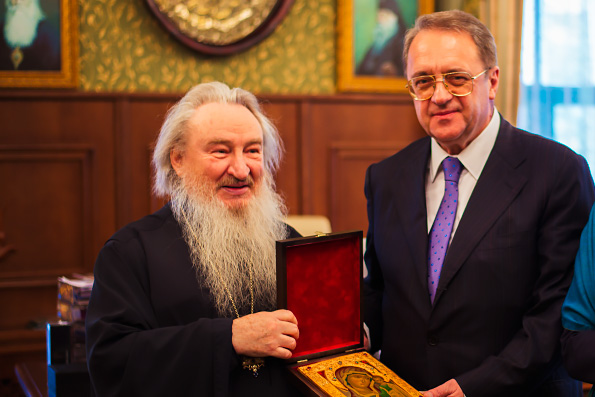 Состоялась встреча митрополита Феофана с заместителем министра МИД РФ М.Л. Богдановым