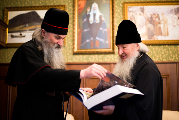 Митрополит Феофан встретился с епископом Русской Православной Старообрядческой Церкви Евфимием