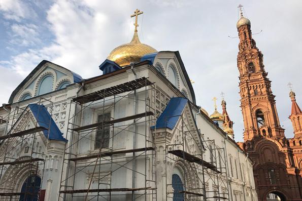 В Богоявленском соборе Казани начались реставрационные работы