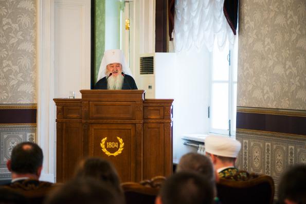 Митрополит Феофан выступил на прошедших в столице Татарстана «Державинских чтениях»
