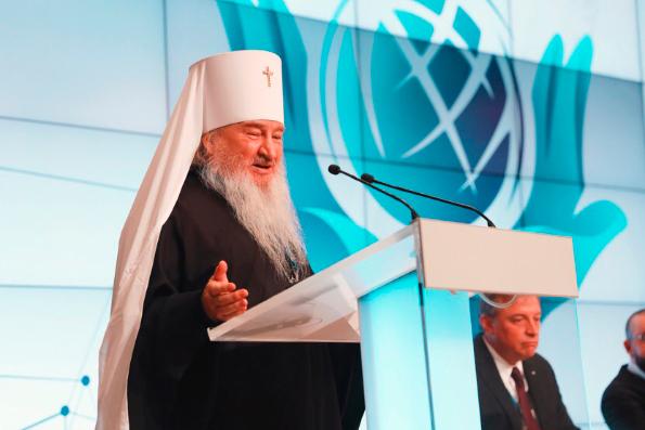 Глава Татарстанской митрополии выступил на прошедшем в Москве международном форуме «Религия и мир: религия и цифровое общество»