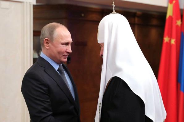 Владимир Путин поздравил Патриарха Кирилла с годовщиной интронизации