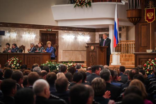 Представитель Татарстанской митрополии присутствовал на ежегодном послании Президента Татарстана Государственному Совету республики