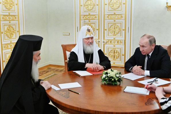 Президент России встретился с Предстоятелями Иерусалимской и Русской Православных Церквей