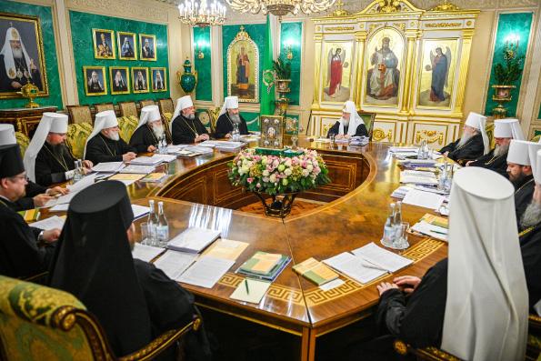 Последнее в уходящем году заседание Священного Синода прошло в Москве