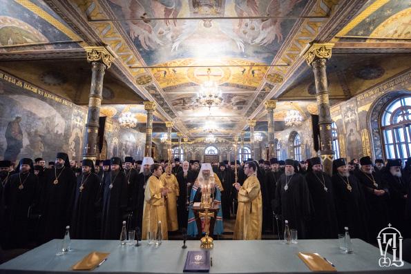 Блаженнейший митрополит Киевский Онуфрий призвал духовенство мужественно хранить верность Христу