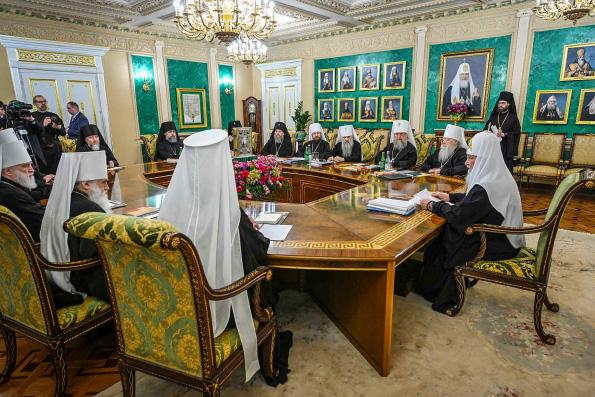 В Москве состоялось заседание Священного Синода Русской Православной Церкви