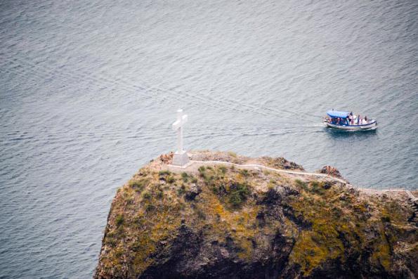В Крыму на скале Явления святого Георгия мыса Фиолент воссоздали исторический крест