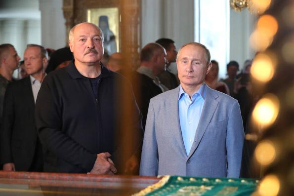 Владимир Путин и Президент Республики Беларусь Александр Лукашенко посетили Валаамский и Коневский монастыри