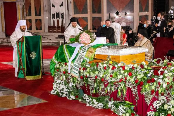 Состоялось отпевание и погребение Святейшего Патриарха Сербского Иринея