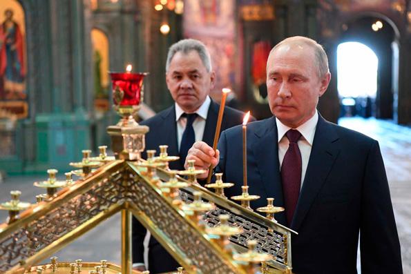 В День памяти и скорби Президент России Владимир Путин и Патриарх Кирилл посетили главный храм Вооруженных сил РФ