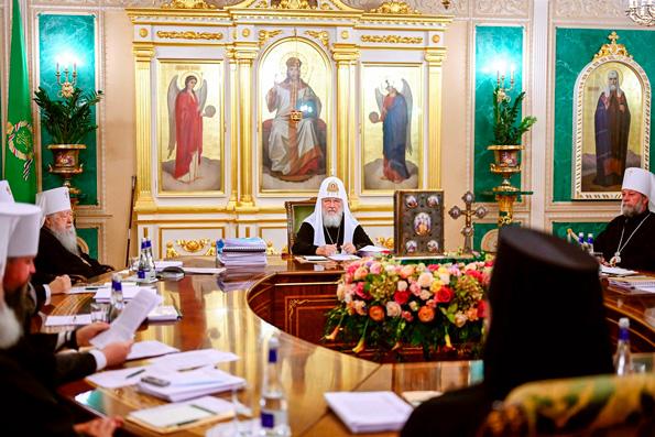 Заседание Священного Синода прошло в Даниловом монастыре в Москве