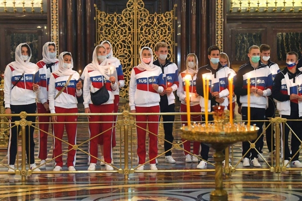 В Храме Христа Спасителя в Москве вознесли молитву о российских спортсменах ― участниках XXXII летних Олимпийских игр в Токио